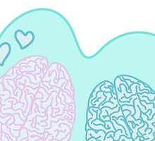 Pastel Brains in Love by XOOXOO