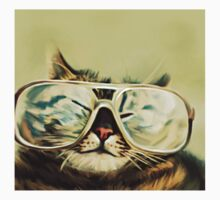 Cute Cat With Glasses Kids Clothes