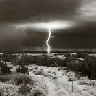 Lightening at Dawn - Chimayo, New Mexico by Lisa Blair