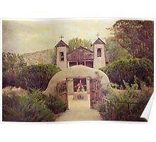 Vintage Santuario de Chimayo Church Poster