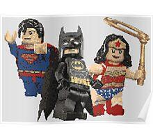 Pixel Super Heroes Lego  Poster