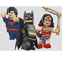 Pixel Super Heroes Lego  Photographic Print