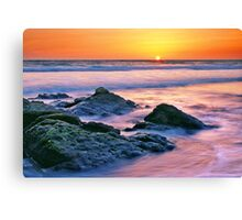Sunset in the Pacific Canvas Print