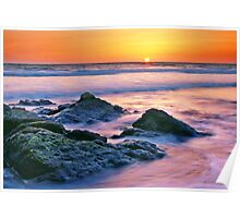 Sunset in the Pacific Poster