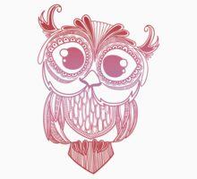 Owl mandala - red pink gradient  by TswizzleEG