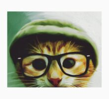Vintage Cat Wearing Glasses Kids Clothes