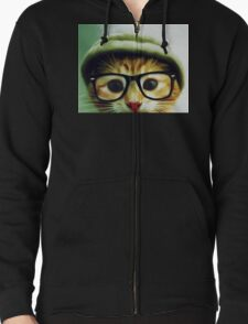 Vintage Cat Wearing Glasses T-Shirt