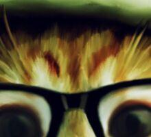 Vintage Cat Wearing Glasses Sticker