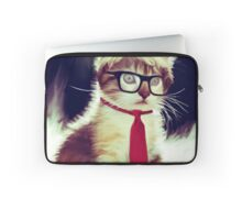 Cute Executive Cat Laptop Sleeve