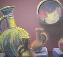 Egyptian Pitchers (Pastel) by Niki Hilsabeck