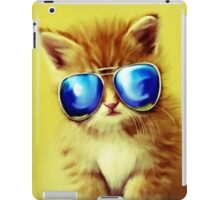 Cute Kitty with Sunglasses iPad Case/Skin