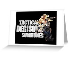Lux - Tactical Decision Summoner - League of Legends Greeting Card