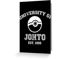 University of Johto Greeting Card