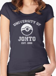 University of Johto Women's Fitted Scoop T-Shirt