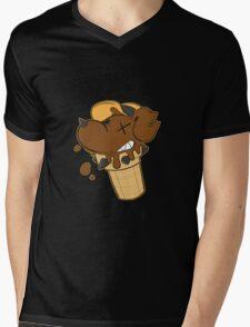 Cone Dog Chocolate Mens V-Neck T-Shirt