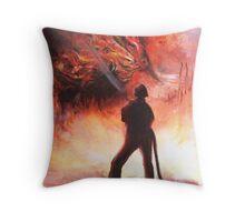 Intensity - illusion painting Throw Pillow