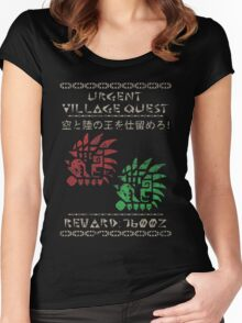 Monster Hunter Required - Rathalos and Rathian Women's Fitted Scoop T-Shirt