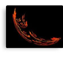 Flame Swoosh Canvas Print