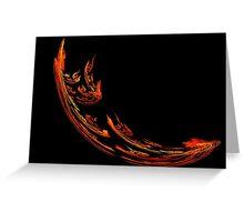 Flame Swoosh Greeting Card
