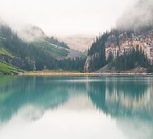 Misty morning at Lake Louise by traveller