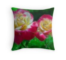 Rose Lovers - Soft Sketch Throw Pillow