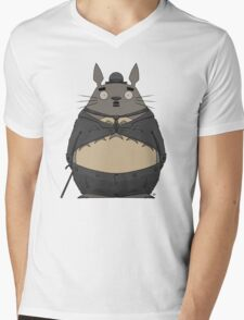 Charlie Chaplin Totoro Mens V-Neck T-Shirt