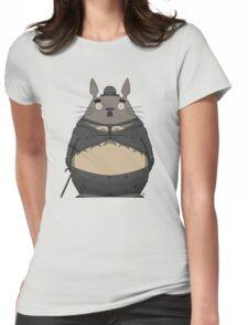 Charlie Chaplin Totoro Womens Fitted T-Shirt