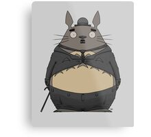 Charlie Chaplin Totoro Metal Print