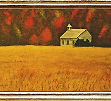 """Mountain Autumn"" ... with a canvas and framed presentation for prints by © Bob Hall"