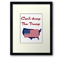 Can't Stump the Trump Framed Print