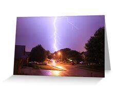 Neighborhood Strike - Splitting the Frame Greeting Card