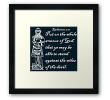 THE WHOLE ARMOUR OF GOD Framed Print