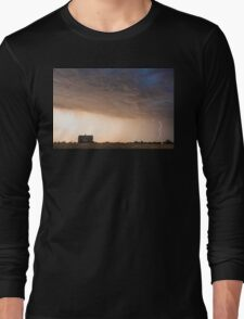Lightning Striking On The Colorado Prairie Plains Long Sleeve T-Shirt
