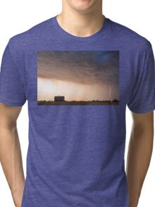 Lightning Striking On The Colorado Prairie Plains Tri-blend T-Shirt