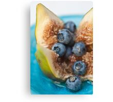 Fig and Blueberries Canvas Print