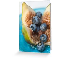 Fig and Blueberries Greeting Card