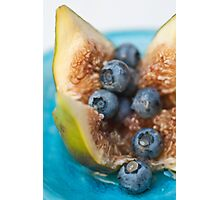 Fig and Blueberries Photographic Print