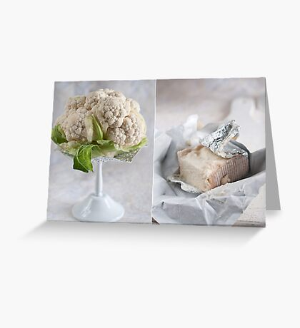 Cauliflower and cheese Greeting Card