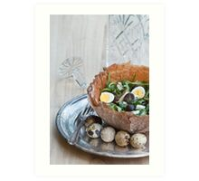 Bowl of Salad Art Print