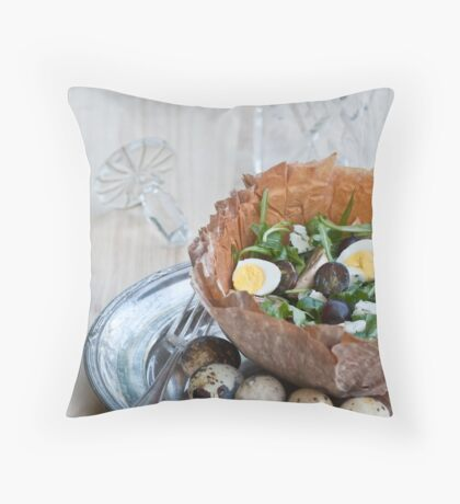 Bowl of Salad Throw Pillow