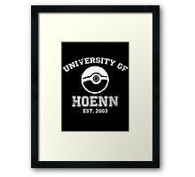 University of Hoenn Framed Print