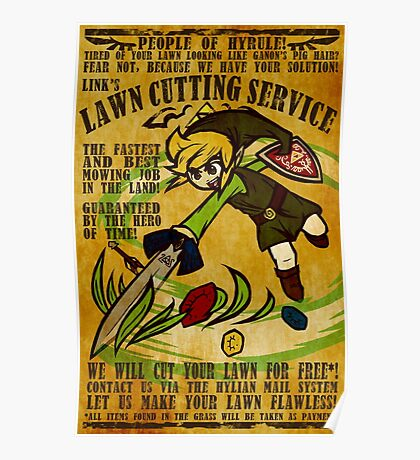 Link's Lawn Cutting Service Poster