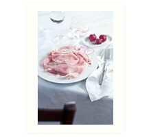 Dinner table Art Print