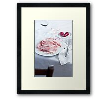Dinner table Framed Print