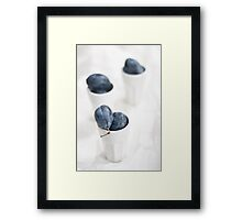 Plums on White Framed Print