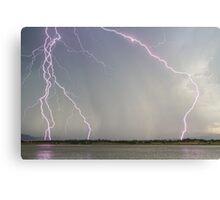 Positive Pink Lightning Strikes Canvas Print
