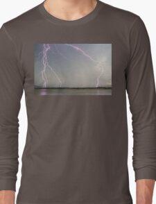 Positive Pink Lightning Strikes Long Sleeve T-Shirt