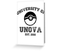 University of Unova Greeting Card