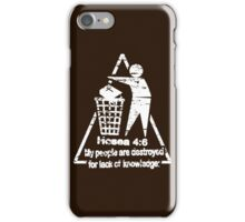 DESTRUCTION BY LACK OF KNOWLEDGE iPhone Case/Skin