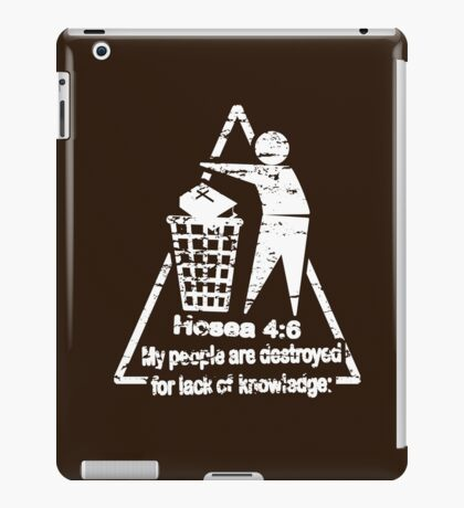 DESTRUCTION BY LACK OF KNOWLEDGE iPad Case/Skin